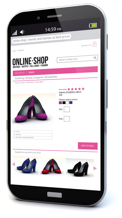 mobile web shop